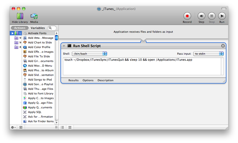 Automating Shared iTunes Library Access